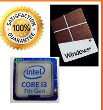 Intel inside Core i3 GEN 7 FREE WINDOWS 10 computer sticker PC Genuine Base 8