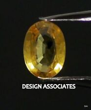 YELLOW SAPPHIRE 8X6 MM OVAL CUT ALL NATURAL AAA