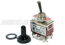 Heavy Duty 20A/125V DPDT On-On Toggle Switch w/Waterproof Boot... USA SELLER!!!