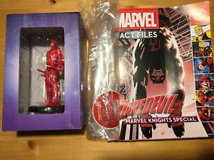 MARVEL FACT FILES: MARVEL KNIGHTS SPECIAL DAREDEVIL Eaglemoss mini-statue NIB!
