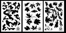 """3Pack! Spray Paint Camouflage Stencils 14""""  TACS - Leafy Maple - Army Camo"""