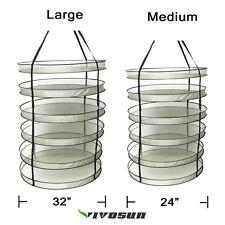 VIVOSUN 6 Tiers Hanging Herb Drying Rack Detachable Grow Dryer Net Hydroponics