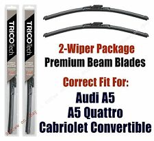 Wipers 2-Pk fit 2010+ Audi A5, A5 Quattro Cabriolet (Convertible Only) 19240/210