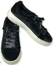 Brash Platform Sneakers Size 8 Black Velvet Grunge Goth Creepers Punk Shoes