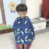 Kids Colors Salon Waterproof Hair Cut Haircut Barbers Cape Gown Cloth Easy Use