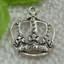 free ship 96 pieces tibet silver crown charms 34x29mm #3232