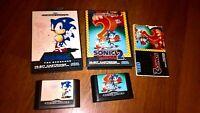 Sonic The hedgehog Sega Mega Drive Games Bundle 1 & 2 16 bit Cartridges boxed