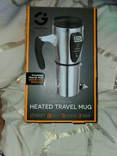 New listing Smart Gear 12v Digital Heated Stainless Steel Insulated Travel Mug With Charger