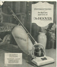 VINTAGE 1910s 'THE HOOVER ELECTRIC SUCTION SWEEPER' INSTRUCTIONS & HANG TAGS!