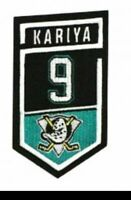 Paul Kariya Retirement Jersey Patch Anaheim Ducks