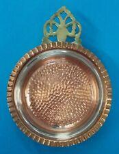 "Vintage 1970s Coppercraft Guild Copper Dish 4 1/4"" w/Glass Insert 3 3/4"""