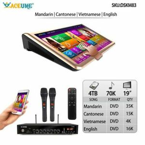 4TB HDD 70K Chinese,English,Vietnamese Songs,19'' Touch Screen Karaoke Player,