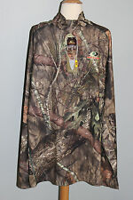 New MOSSY OAK Break-Up Country Mens Size M L 2XL Qtr Zip Top Camo Hunting Shirt