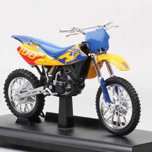 Welly 1:18 My Husqvarna Cr 125 2004 Motocross Model Bike Diecast Motorcycle Toy