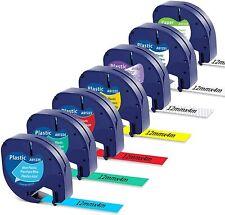 7pcs 16952 91331 91330 Plastic Tape Compatible Dymo Letratag Label Maker Lt 100h