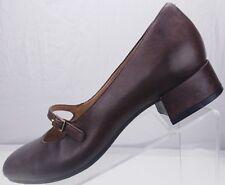 Earth Mary Jane - Nightingale Bark Dress Leather Block Heels Women's 8 B Brown