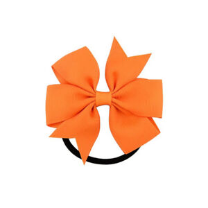 10 pcs Boutique Hair Bow For Girls Toddlers Kids Hair Rope Hair Band Headwear