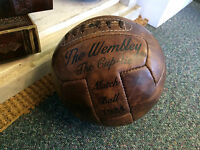 Vintage Style Handmade Brown Leather Football - 12 Panel Lace