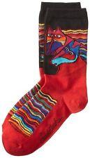 K. Bell Womens Lively Nature Crew Socks, Wind Spirit Coyote, 9-11