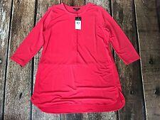 Lauren Ralph Lauren Plus Size Buttoned Jersey Top Deco Coral 2X