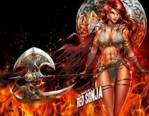 Invincible Red Sonja 3 Tyndall Wrap Trade Variant Cover Lim/200 Signed/Cert  NM
