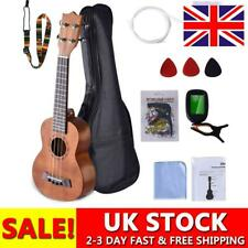More details for ukulele kit musical hawaiian guitar 21 inch with bag, tuner, strap, picks & more