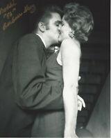BARBARA GRAY SIGNED AUTHENTIC ELVIS PRESLEY FAMOUS THE KISS 8x10 PHOTO B w/COA