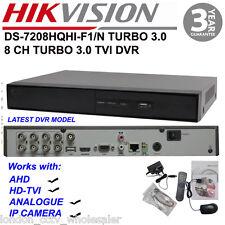 Hikvision Ds -7208 hqhi-F1/N 8Ch 1080p CVBS/dispositivo antimanipulación/TVI/Turbo 3 DVR de alta definición