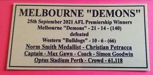 2021 Melbourne Demons Premiers Gold Plaque F/Post