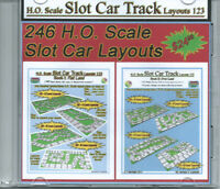 HO Scale Slot Car Track Layouts 123 Book I and Book II in PDF file on DVD disc