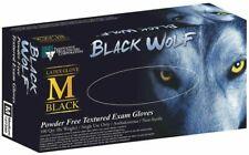 Black Wolf - Black Latex Gloves, PF,  Box/100, Medium