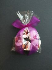 5 Heart Rose Scented Bath Bombs with Purple Ribbon...Gift...