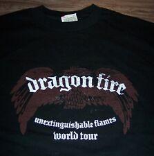 DRAGONFIRE Unextinguishable Flames WORLD TOUR T-Shirt MEDIUM NEW Band Metal