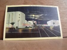 1930-40s America Postcard NBC Radio Centre Sunset Blvd Hollywood California