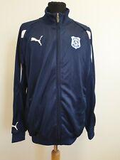 DD279 MENS PUMA SHINY BLUE CARDIFF CITY FC FOOTBALL TRACKSUIT JACKET UK M EU 50