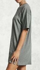 Forever 21 Boxy Oversized Boyfriend Style Tunic Tee T-shirt Heather Gray S NEW