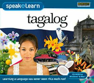 Speak and Learn Tagalog  XP Vista 7 8 10 MAC  New   Fast & Fun Way to Learn