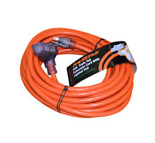 Heavy Duty 3 Plug 50ft Lighted Ext. Cord-10/3 Gauge In/Outdoor Orange-D14610050