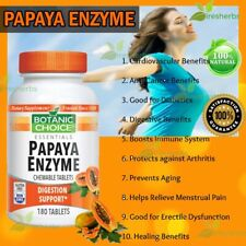 Papaya Enzyme Protease Digestion Constipation Lungs Supplement 180 Chewable Tabs