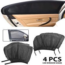 4Pcs Car Sun Shade Front Rear Window Screen Cover Visor Sunshade Uv Protector
