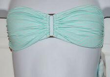 Zimmermann Women's Wide Link Bandeau Bikini Top Sz 2 Aqua Striped (K13)