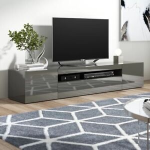 """Mariella Anthracite TV Stand for TVs up to 88"""""""