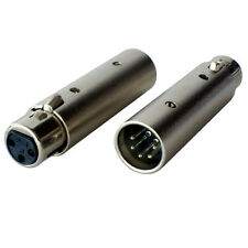XLR 5 Pin Male to 3 Pin Female DMX Adapter/Converter-Plug/Socket Lighting Barrel