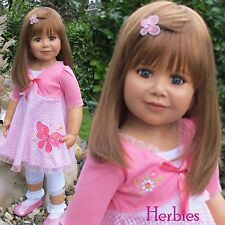 "Masterpiece Dolls Penny 35"" Brunette,  Brown Eyes, Monika Peter-Leicht"