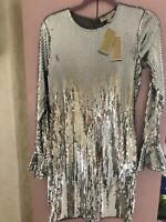 Michael Kors Dress sequined silver