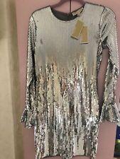 Michael Kors Dress sequined silver