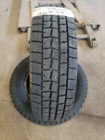 Pair of 2 Dunlop Winter Maxx 185/70R14 88 T Tire Black Sidewall 185/70-14 11/32