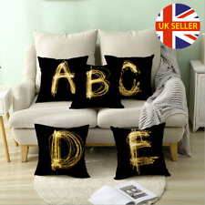 TOMKEYS Throw Pillow Cover Alphabet