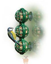 Wild Bird Window Suction Mounted Basket Fat Ball Suet Safe Basketball Feeder