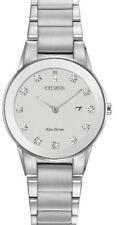 Citizen Eco-Drive Axiom Women's Diamond Accent Silver-Tone 30mm Watch GA1050-51B